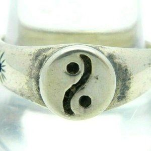 .925 Sterling Silver Ying Yang Artist Marked Ring